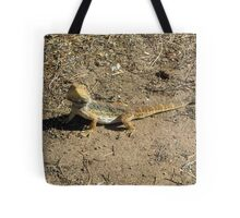 Our friendly wildlife. A Bearded Dragon! at 'Arilka', Mt. Pleasant. S.Aust. Tote Bag