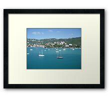 Carribean Blue Framed Print