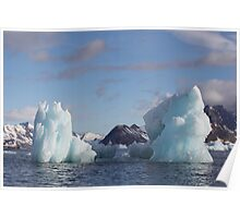 Blue Ice Peaks Poster