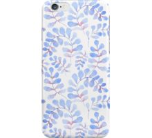 Abstract floral pattern with hand-drawn watercolor elements. iPhone Case/Skin
