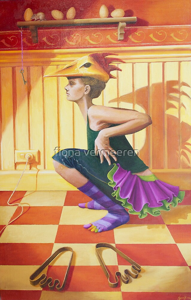 Chicken Dance, oil on canvas, 2004. by fiona vermeeren