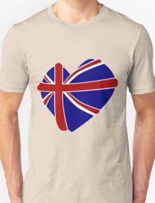 Great Britain Heart shape T-Shirt