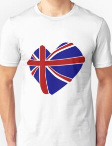 Great Britain Heart shape T-Shirt