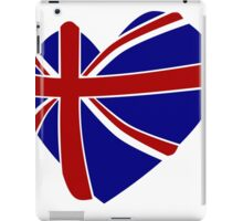 Great Britain Heart shape iPad Case/Skin
