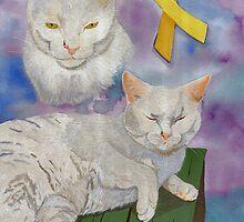 Arthur aka Diamond (a true feline survivor) by Angela Cater