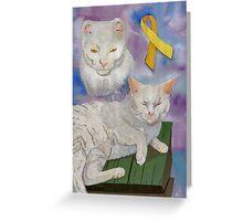 Arthur aka Diamond (a true feline survivor) Greeting Card