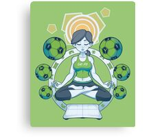 Get Fit - Green Canvas Print