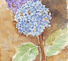 Last Summer's Hydrangeas 2 by Maree  Clarkson