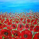 RED POPPY FIELD by whittyart
