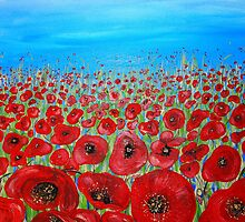 RED POPPY FIELD by whittyart