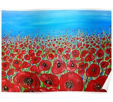 RED POPPY FIELD Poster