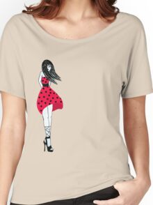 Polka dots Women's Relaxed Fit T-Shirt