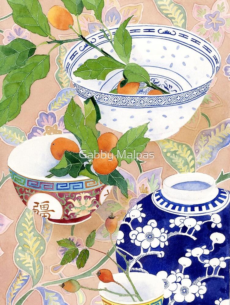 kumquats and ginger jar - larger by Gabby Malpas