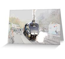 Sir Nigel Gresley at Grosmont Greeting Card