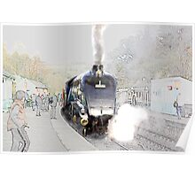 Sir Nigel Gresley at Grosmont Poster