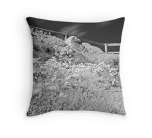 Infra Red Flowers Throw Pillow