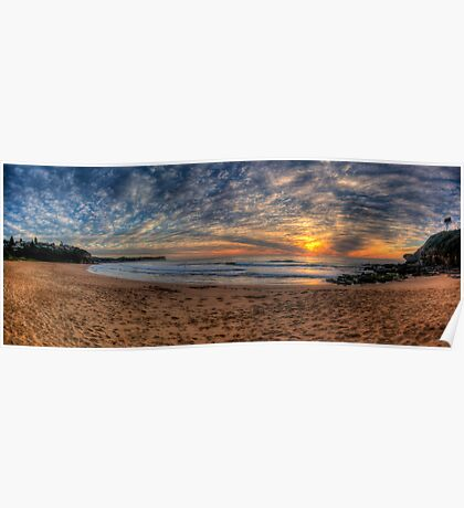 A Sky To Die For - Warriewood Beach, Sydney ( 35 Exposure HDR Panorama) - The HDR Experience Poster