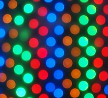 Defocused and blur image of multi-colored lights by vladromensky