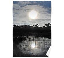 Moody Sun at Jackass Flat Poster