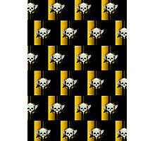 Wing Skull - YELLOW (Pattern) Photographic Print