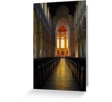 Sacred Heart Cathedral Interier Greeting Card