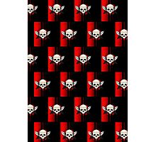 Wing Skull - RED (Pattern) Photographic Print