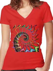 Synapse Life Women's Fitted V-Neck T-Shirt