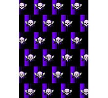 Wing Skull - PURPLE (Pattern) Photographic Print