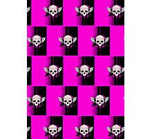 Wing Skull - PINK (Pattern 2) Photographic Print