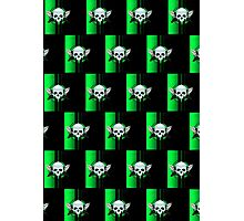 Wing Skull - GREEN (Pattern) Photographic Print