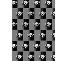 Wing Skull - WHITE & BLACK (Pattern 2) Photographic Print