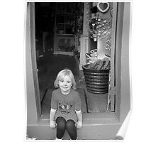 Sitting in the doorway Poster