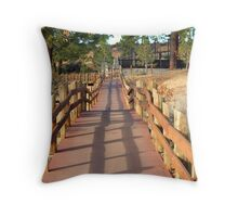 """Fence Shadows"" Throw Pillow"