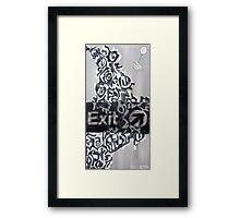 Exit Revisited Framed Print