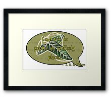 Courage from Tolkien Framed Print