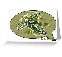 Courage from Tolkien Greeting Card