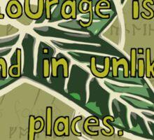 Courage from Tolkien Sticker