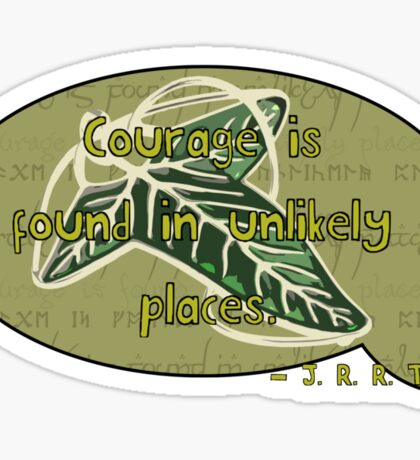Courage from Tolkien Sticker