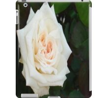 White Rose With Natural Garden Background iPad Case/Skin