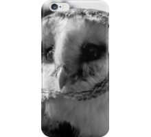 Barn Owl in Black and white  iPhone Case/Skin