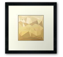Burlywood Brown Abstract Low Polygon Background Framed Print
