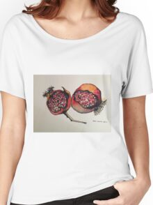 Pomegranate. Pen and wash 2012 Women's Relaxed Fit T-Shirt