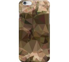 Copper Brown Abstract Low Polygon Background iPhone Case/Skin