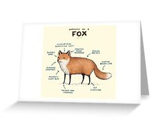 Anatomy of a Fox Greeting Card