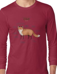 Anatomy of a Fox Long Sleeve T-Shirt
