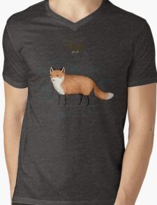 Anatomy of a Fox Mens V-Neck T-Shirt