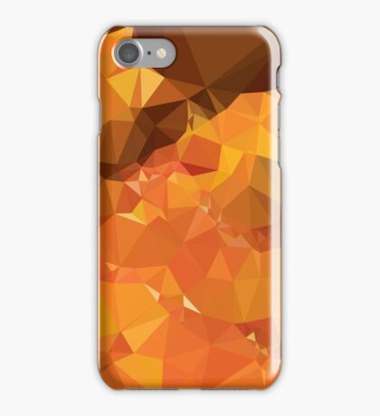 Harvest Gold Abstract Low Polygon Background iPhone Case/Skin