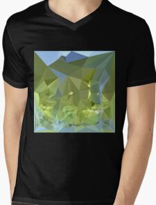 Limerick Green Abstract Low Polygon Background Mens V-Neck T-Shirt