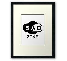 sad zone Framed Print
