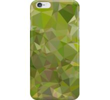 Sap Green Abstract Low Polygon Background iPhone Case/Skin